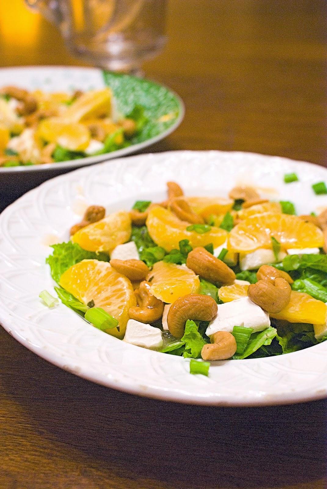 Cashew, Clementine, and Cream Cheese Salad