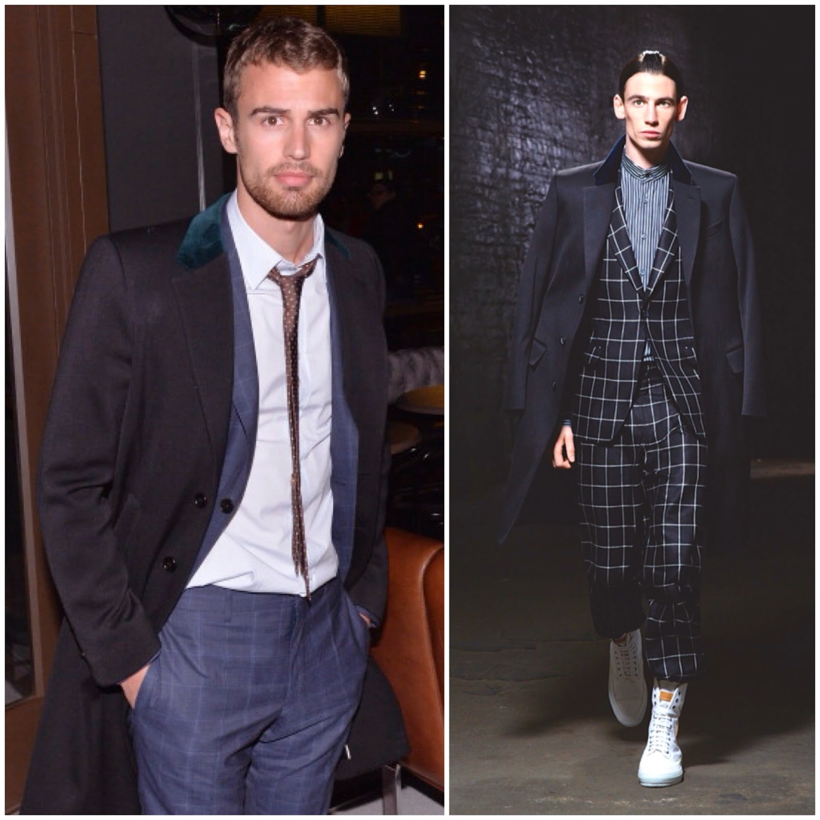Theo James in Alexander McQueen - 'Divergent' NYC Promotions