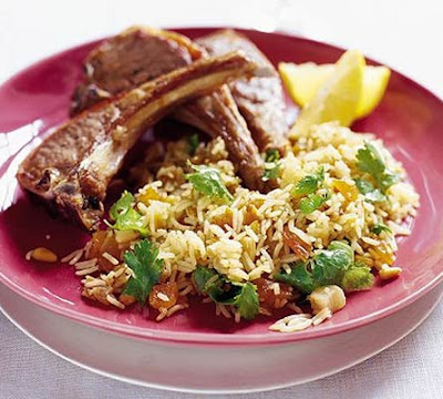 Lamb Steaks With Moroccan Spiced Rice Recipe
