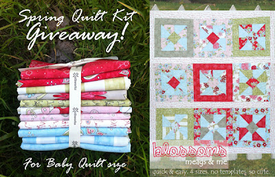 meags and me Blossoms Quilt pattern and Clothworks Fabric #Giveaway