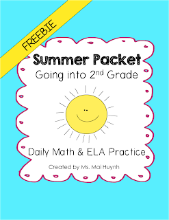 https://www.teacherspayteachers.com/Product/Freebie-Summer-Packet-Going-into-2nd-Grade-1222953