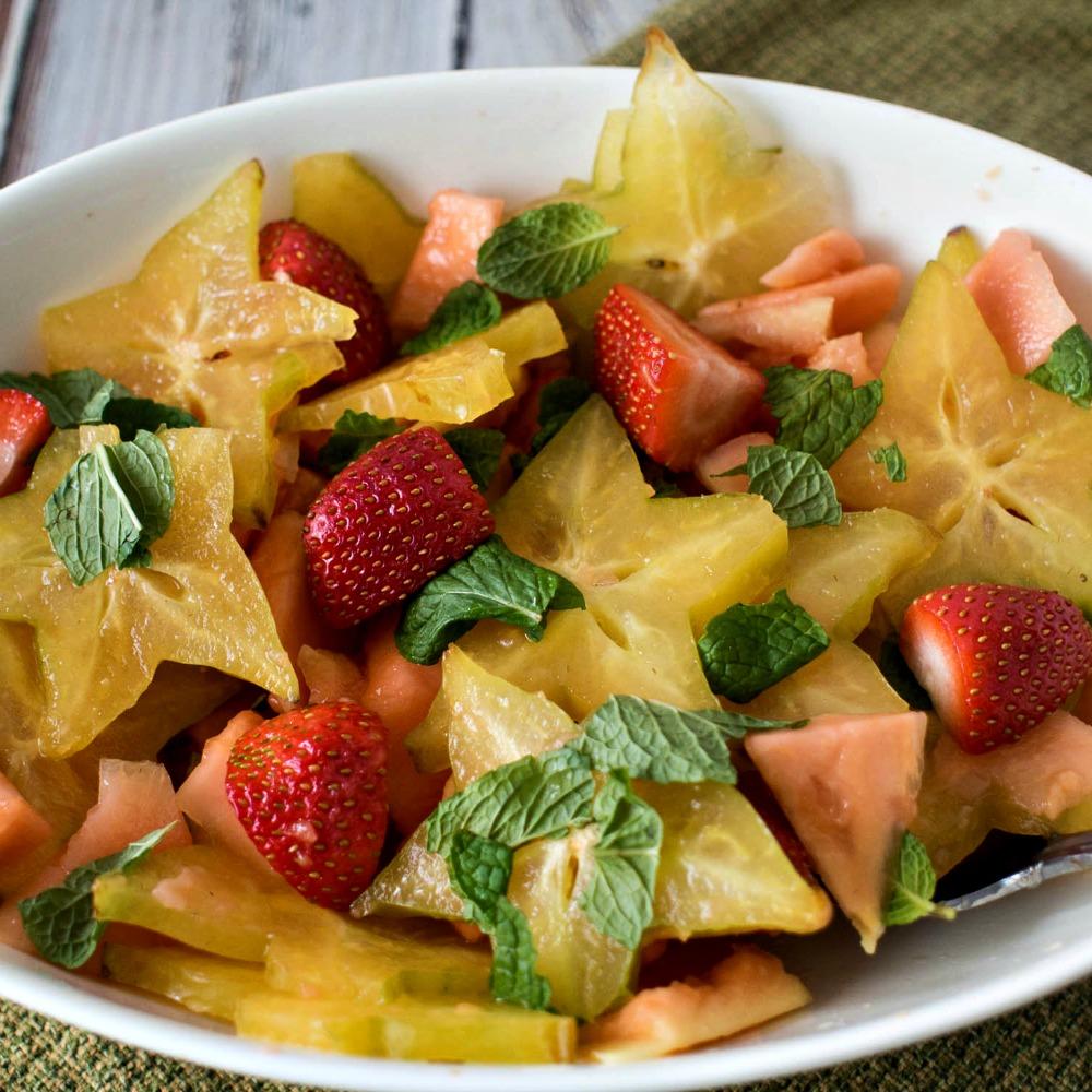 simple fruit salad carambola fruit