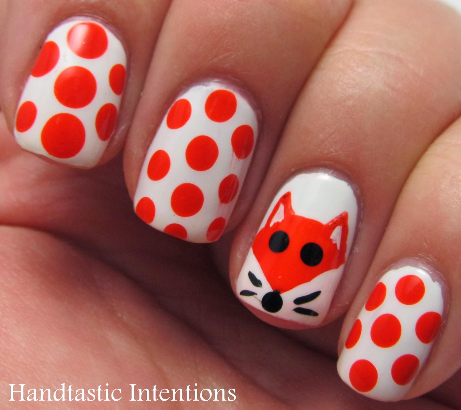 Fox Nail Designs: Handtastic Intentions: Nail Art: Fox For Nail Art November