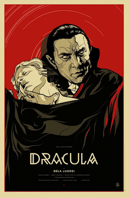 Dracula Blood Red Standard Edition Screen Print by Martin Ansin