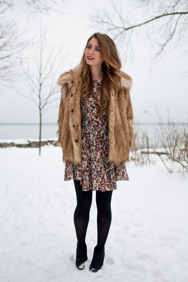 e7439054300 OOTD - Vintage Faux Fur for Winter