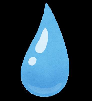 水のしずくのイラスト