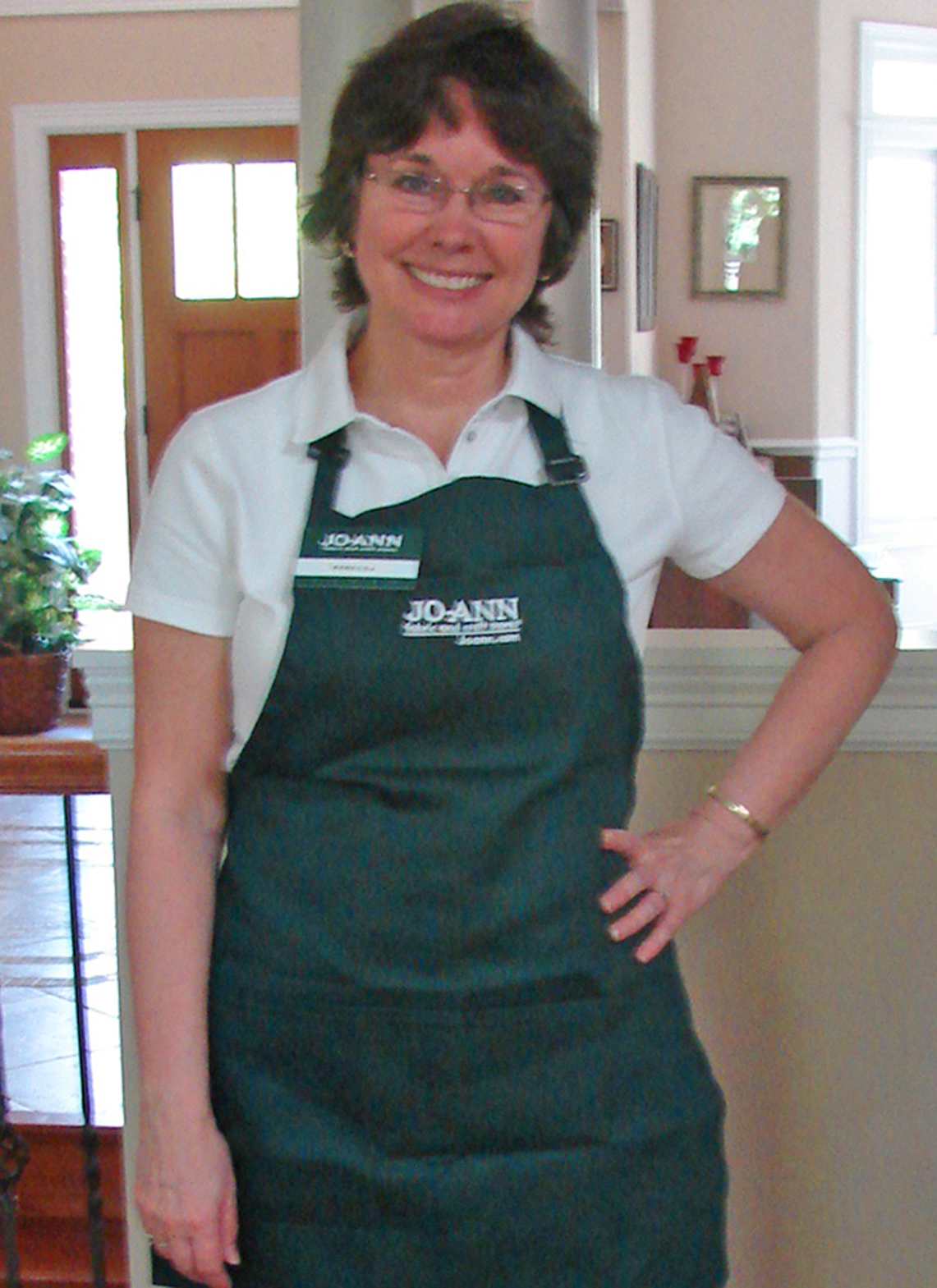 White apron joann fabrics - I Worked Four Hours Today Cutting Fabric And Batting For Customers The First Part Of The Day Was Orientation Getting My Uniform Etc And Then Learning