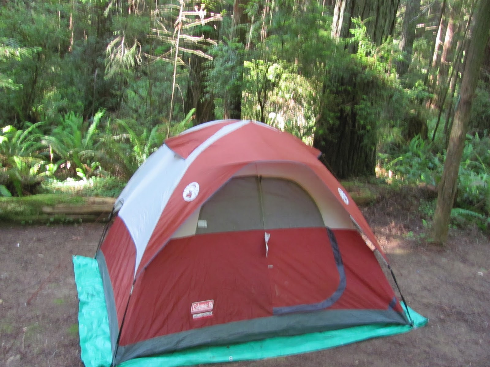 Campsite is set up at Florence Keller County Park, California