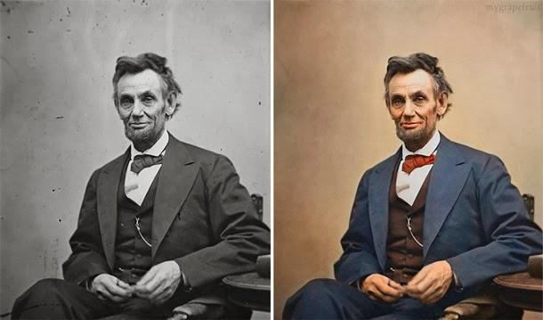 Abraham Lincoln - manipulação digital - Sanna Dullaway