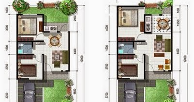 denah rumah minimalis type 45 1 lantai terbaru 2015