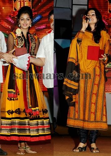 Monal Gajjar and Singer Salwars