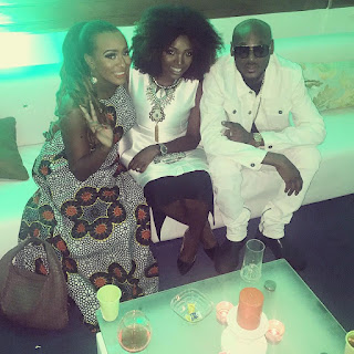 DJ Cuppy Hangs Out With 2face And Annie Idibia (Photo)