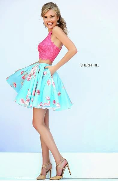 Flower Print dresses from Sherri Hill