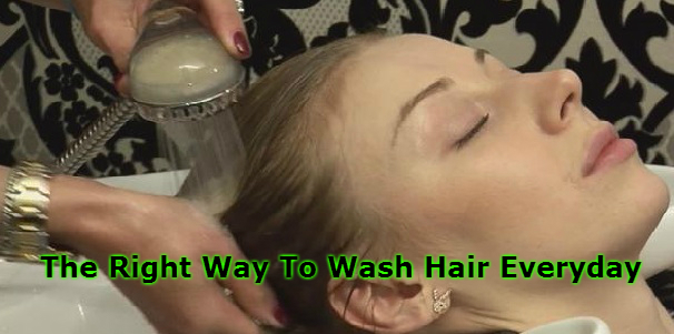 The Right Way To Wash Hair Everyday