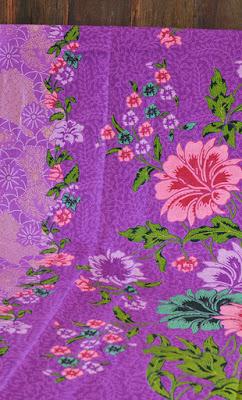 Duo-tone Purple Peony Batik