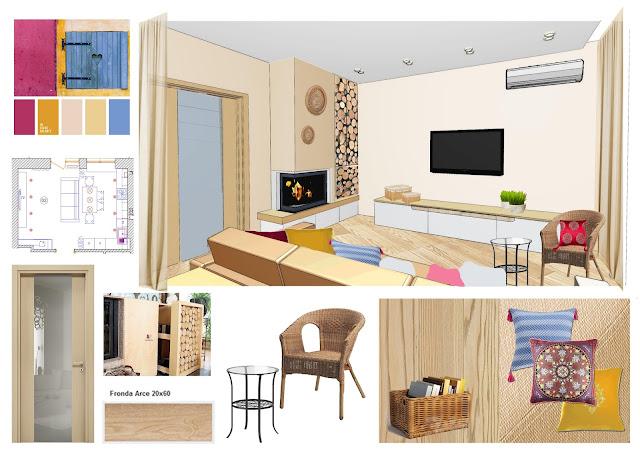 Дизайн кухни-гостиной ЖК Липинка