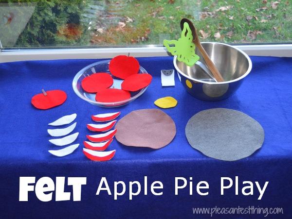 felt apple pie play