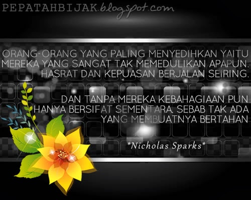 Kata Kata Inspiratif Nicholas Sparks