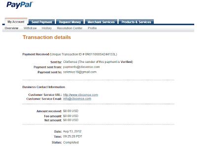 ClixSense payment proof