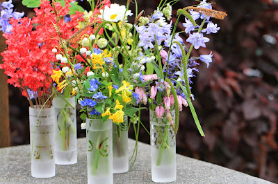 Five Vases of Spring Flowers