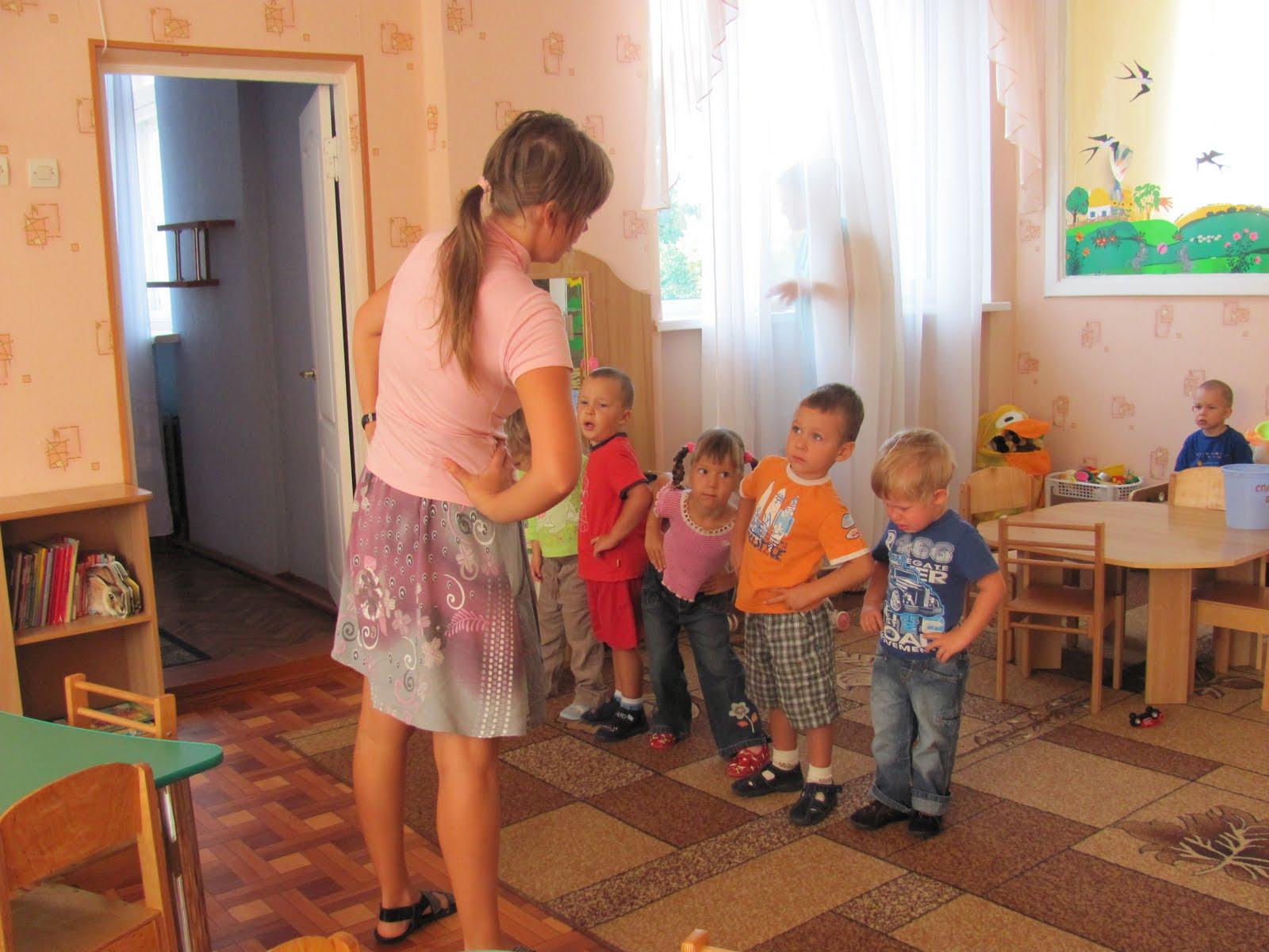 Катя пошла в детский садик
