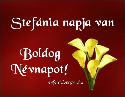 November 28 - Stefánia névnap