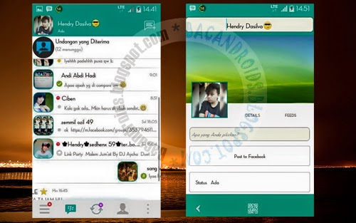 download BBM Mod Material II Green Versi 2.8.0.21