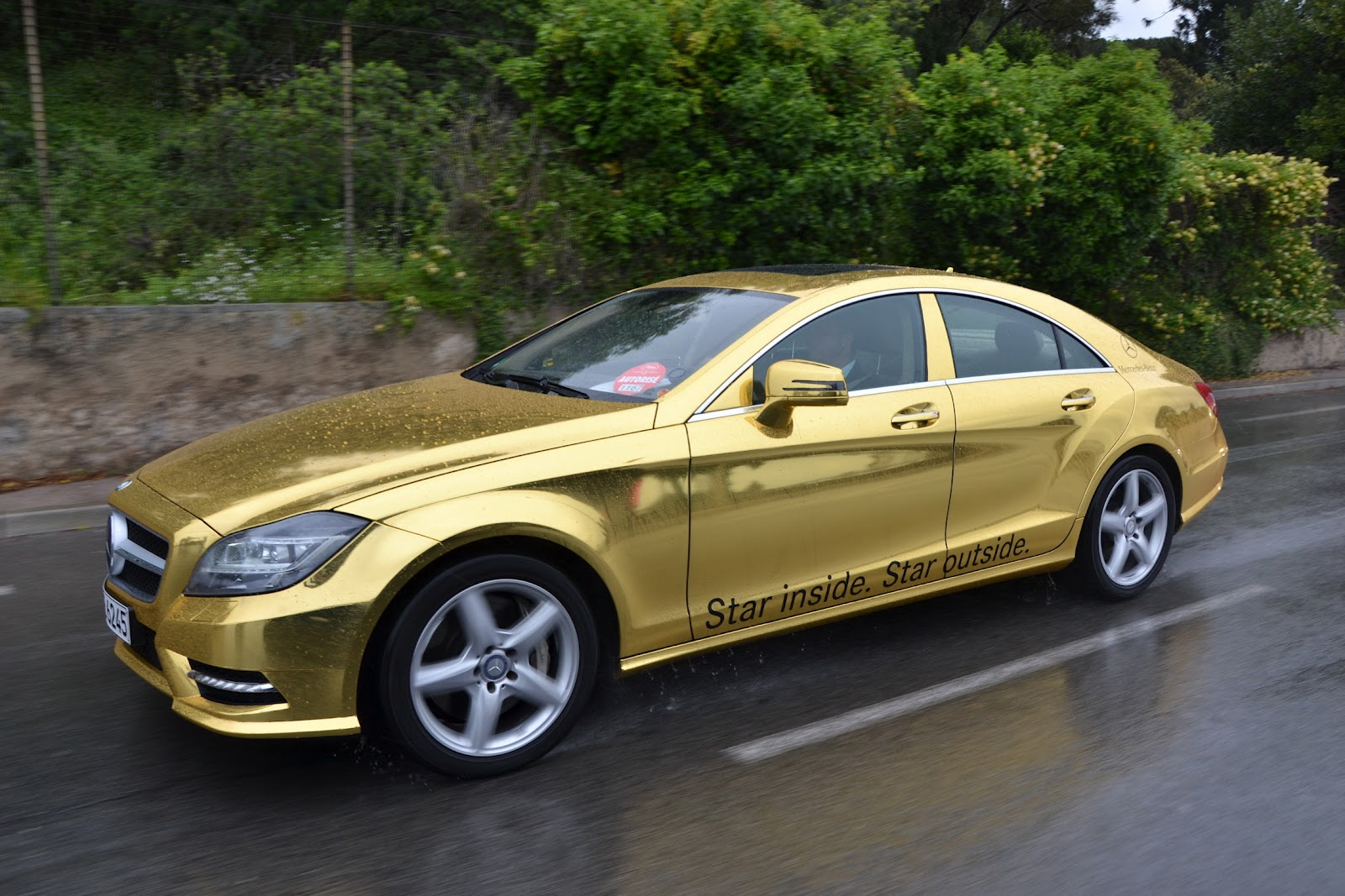mercedes benz amg gold car fleet for cannes film festival