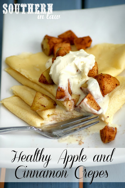 Healthy Apple and Cinnamon Crepes with Mascarpone Topping Recipe