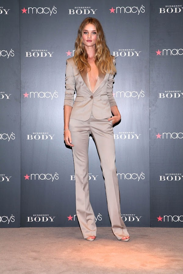 2 Rosie Huntington Whiteley Looks Hot in Beautiful Dress