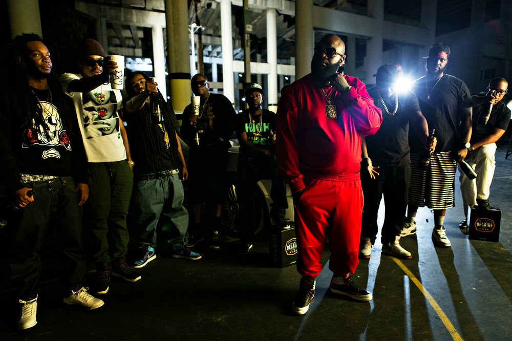 fotos de lil wayne y rick ross grabando el video de thug cry