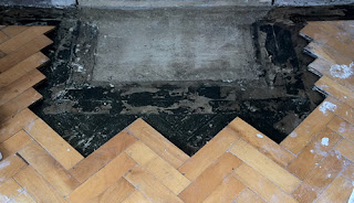 Beech Paquet Block Repair to Hearth Area