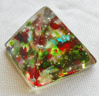 Fused glass pyramid paperweight