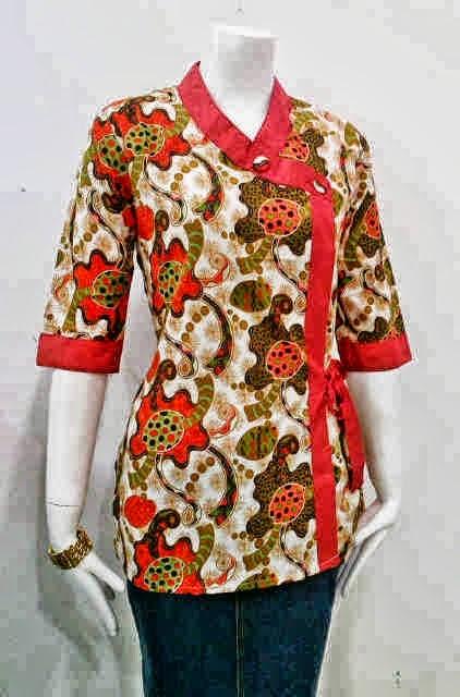 iModeli Baju Batik iWanitai untuk iKerjai di Kantor iModeli Baju