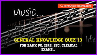 GK Quiz for IBPS PO and Clerk 2015