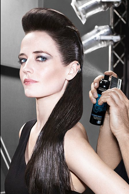 Eva Green the Face for L'Oréal Professionnel with slick back sides