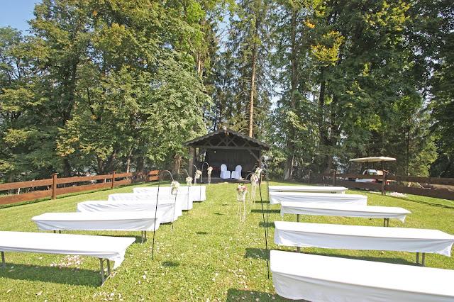 Hochzeitswiese am Riessersee, Blick zum Wald