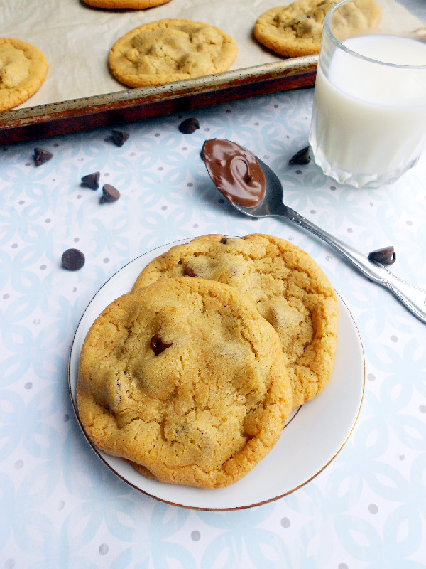 ... of a Confectionista: Nutella Stuffed Chocolate Chip Cookies For Two