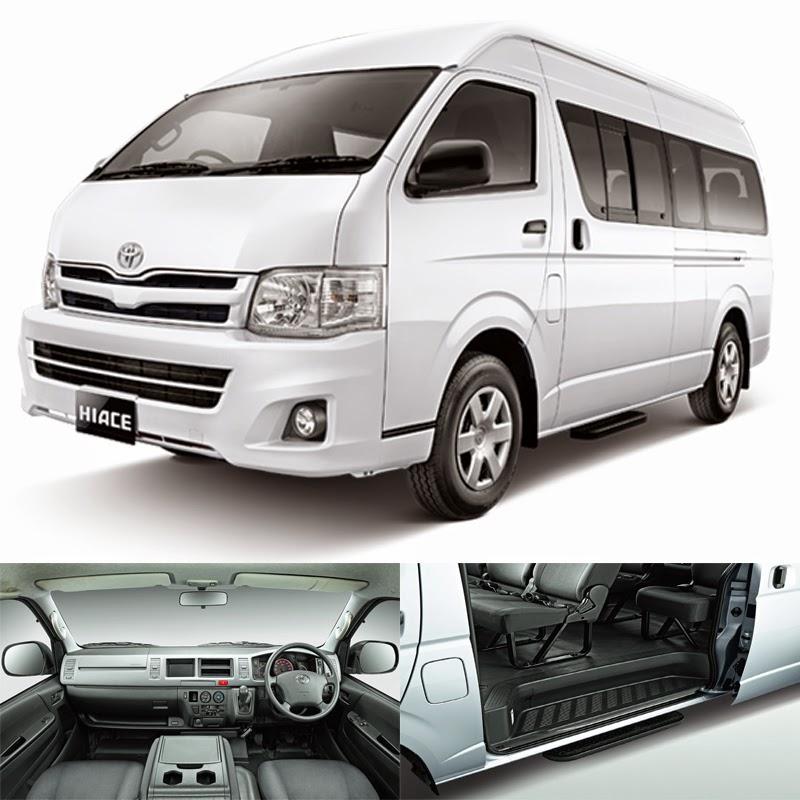Sewa Rental Toyota Hiace '14 baru 8-15 seat Bandung