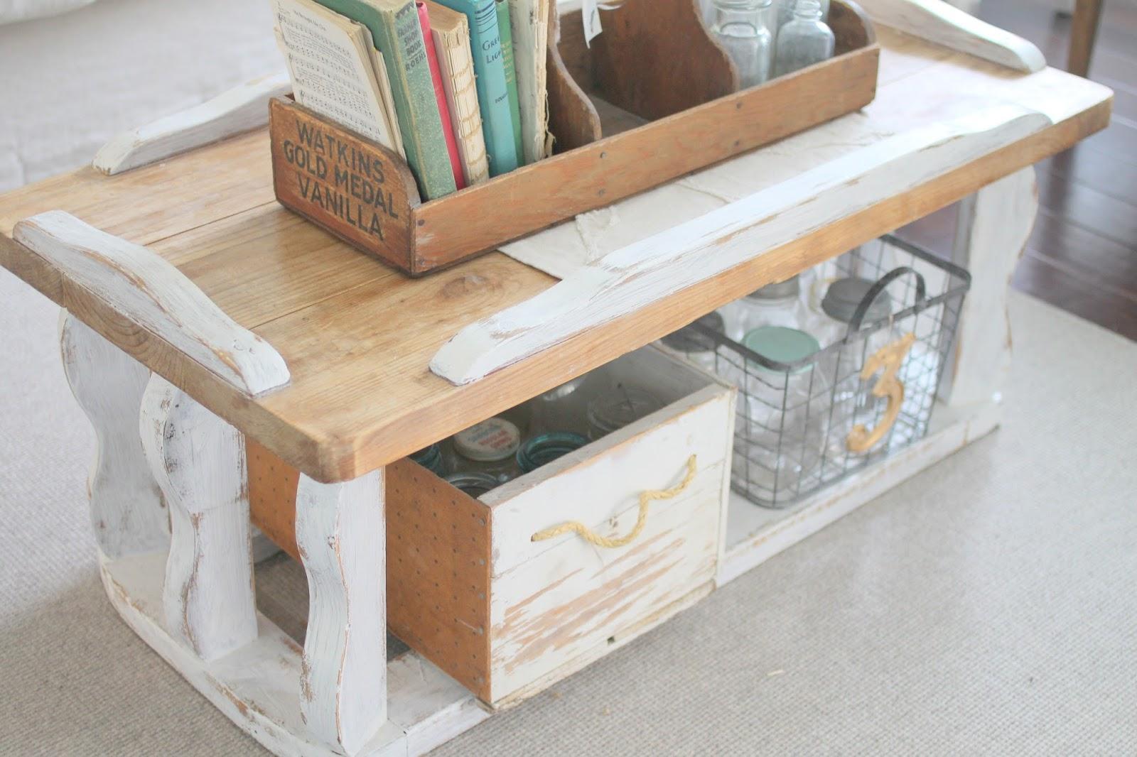 Whimsical treasures farmhouse coffee table 65 for 65 farmhouse table
