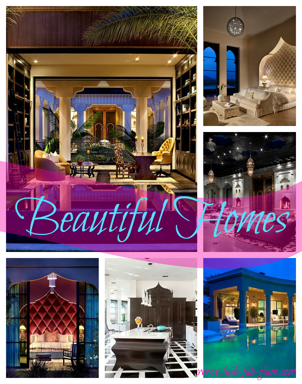 Lush Fab Glam Blogazine: Beautiful Homes: Inside A ...