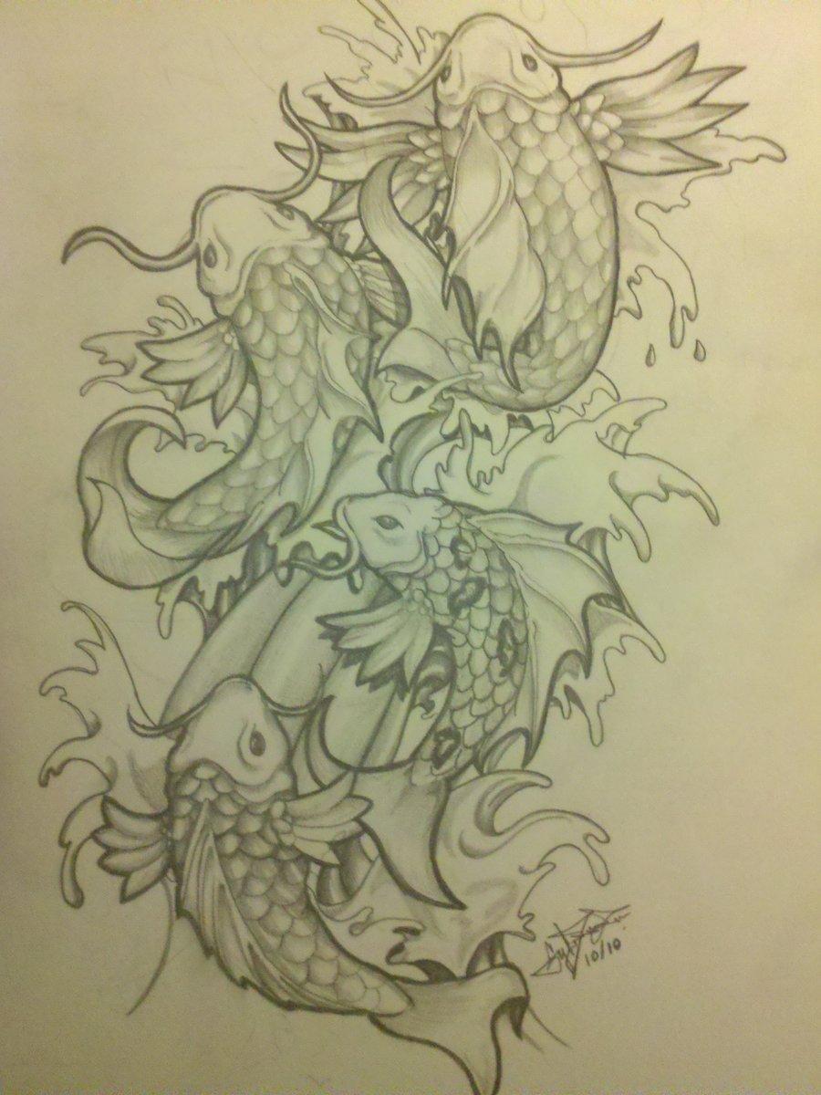 Piercedfish blog koi fish for Koi fish drawing