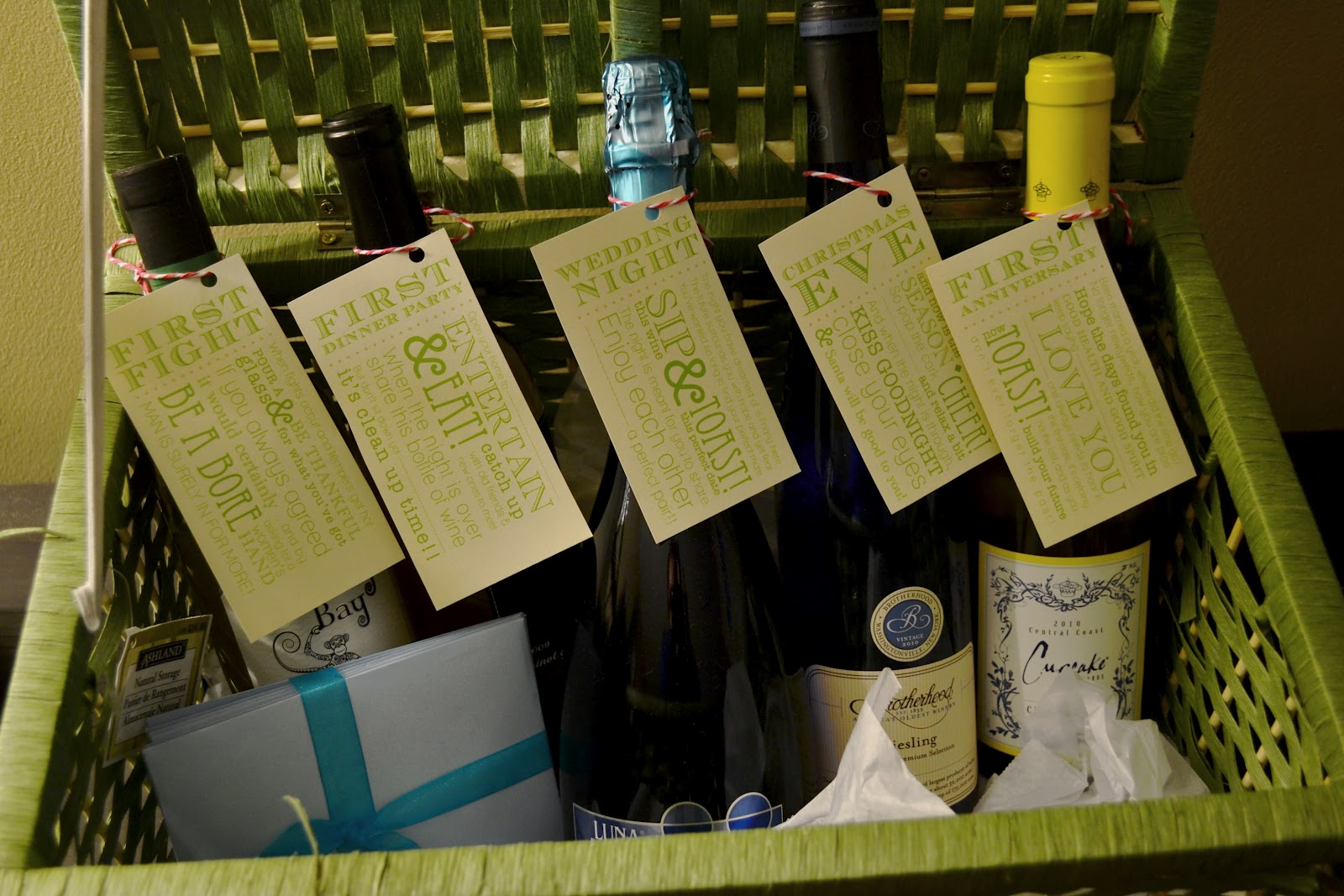 Bridal Shower Wine Gift Basket Ideas : Bridal Shower Ideas - Weddingbee