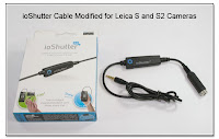 ioShutter Cable Modified with Inline Mini Jack for Leica S2 and S Cameras