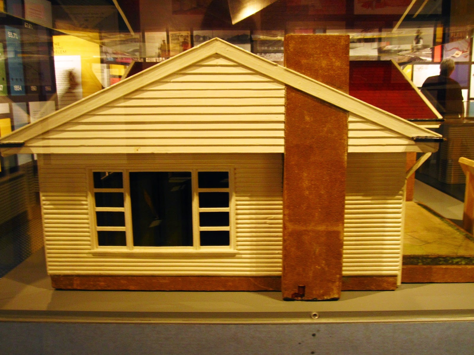 Side view of the model 'St Ives' house in the exhibition 'Dream Home Small Home'