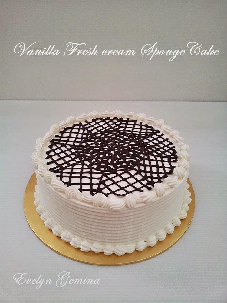 Vanilla Fresh Cream Spongecake / 1kg
