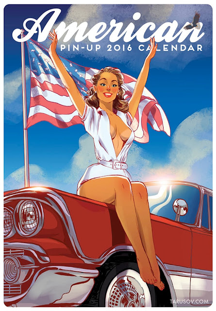 American Pin-up Calendar by Andrew Tarusov