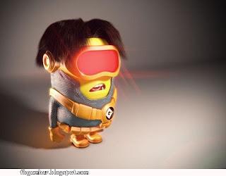 Kumpulan Gambar Lucu Minion dengan pakaian superhero