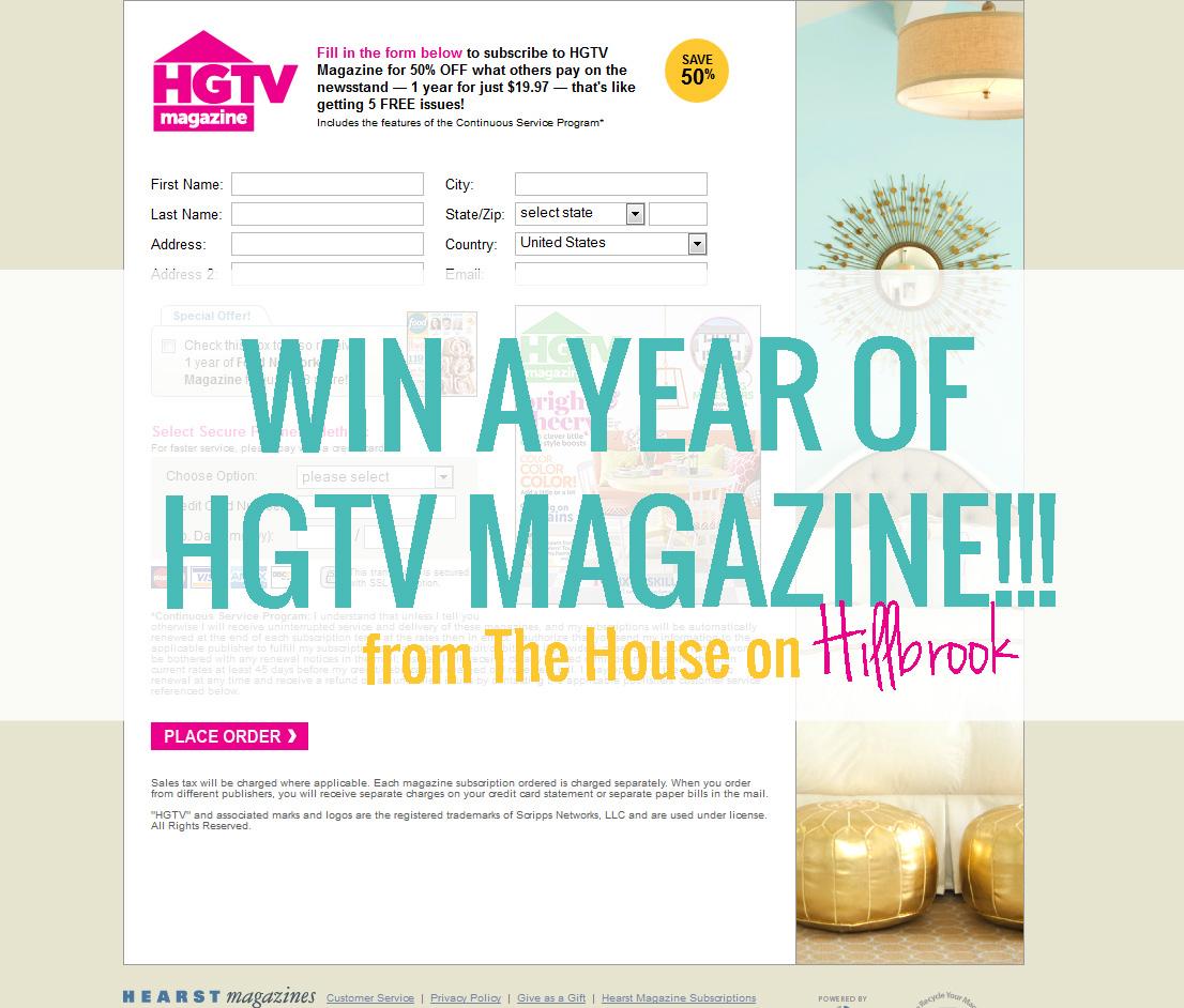 Hgtv Magazine Renewal Hgtv Magazine Screenshot Fill In