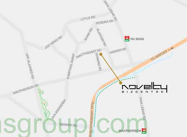 Novelty Bizcentre Location Map
